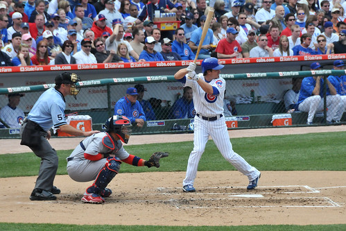 Ryan Theriot at bat