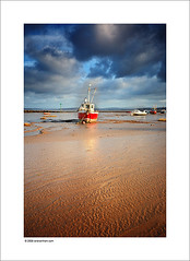 Morecambe Bay (Ian Bramham) Tags: england west colour landscape boat photo sand nikon north explore coastal morecambebay d40 2stopndgradfilter vosplusbellesphotos ianbramham