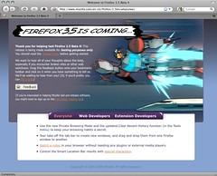 Firefox 3.5 beta 4 for Macintosh
