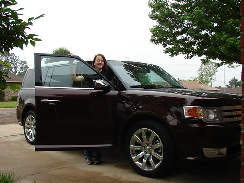 Erica Mueller with the Ford Flex