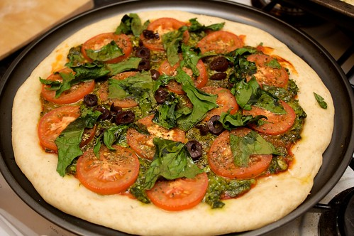 completely homemade vegan pizza