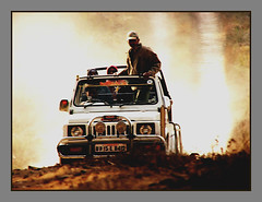 Adrenaline rush.. (netprashant) Tags: wild digital speed flickr jeep action safari chase mp dust h2 gypsy thrill 4wheeldrive thechase kanha adrenalinerush madrush sonyh2 flickriver netprashant