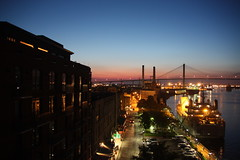 GA - Savannah, Bridge, River Street, Sunset, Again....Sorry to Bore You (scott185 (the original)) Tags: sunset ga georgia nightshot savannah riverstreet savannahriver impressedbeauty flickrgolfclub eugenetalmagememorialbridge