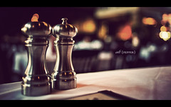 Salt & Pepper (isayx3) Tags: house fish 35mm pepper lights nikon bokeh salt taps brewery f2 resturant nikkor tones shakers d3