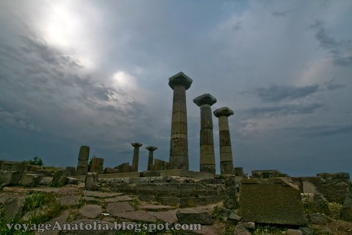 Temple of Athene at Ancient Troy by voyageAnatolia
