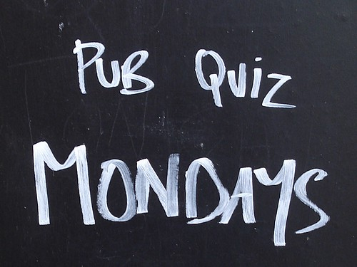 Pub quiz Mondays