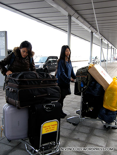 Our luggage grew quite a bit compared to when we arrived