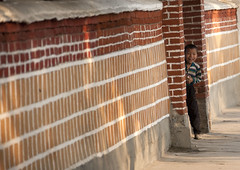 Street of old Kaesong North Korea (Eric Lafforgue) Tags: pictures street wall photo kid war asia picture korea hidden kimjongil asie cache rue coree mur northkorea dprk coreadelnorte 5033 kimilsung nordkorea lafforgue    coredunord coreadelnord  northcorea coreedunord  insidenorthkorea  rpdc  coriadonorte  kimjongun coreiadonorte