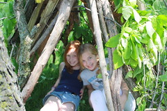 The Maddies in their tee-pee