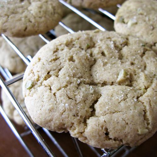 Lime Cardamom Pumpkin seed cookies....