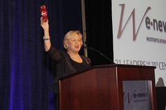 Board of Directors Chair Betsy Chandler sounds the tambourine at the 21 Leaders for the 21st Century by webmamma5000