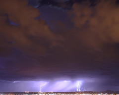 Canon Rebel XS - Lightning & Long Exposure shots (Doctorlo) Tags: sky cloud storm newmexico southwest weather night noche cielo tormenta thunderstorm lightning rayo climate lightningbolt nube lascruces clima relampago newmexicothunderstorms