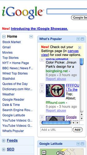 iGoogle Tabs