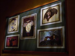 Artwork at Animation Academy at Disney Animation (Loren Javier) Tags: disneyland peterpan captain hook emperorsnewgroove frollo californiaadventure yzma hunchbackofnotredame wickedqueen hollywoodpicturesbacklot snowwhiteandthe7dwarfs animationacademy disneyanimation