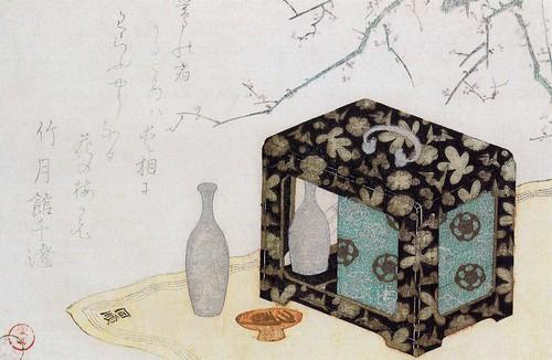 Caja lacada para sake