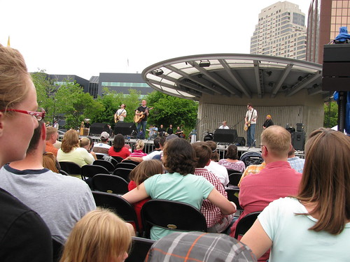 The stage... Rosa Parks Circle - GREAT location!