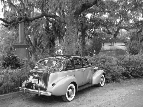 Vintage Buick in Bonaventure Cemetery, Savannah - Georgia/USA.