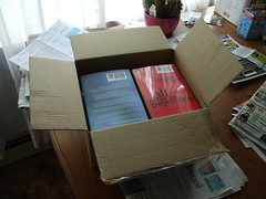 My box o' Books