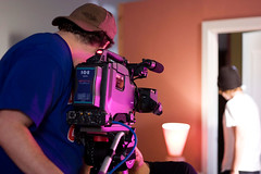 Inside the Film Production Campus (vancouverfilmschool) Tags: lighting camera students set lights tripod class fp dvcam vfs vancouverfilmschool introductiontodolly