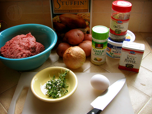 ingredients for meatballs