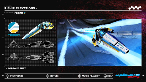 WipEout HD Fury - Feisar Ship Elevations, 1