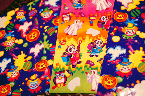 lisa frank Halloween stickers