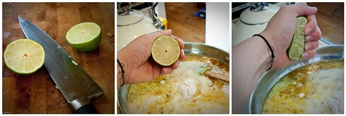 Chop and add lime juice