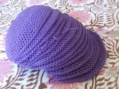 Wedding Kippah #14 (Knit n Frog) Tags: wedding purple crochet lara yarmulke kippah kippot crocheting elann purlsoho handcrocheted purlbee antiqueplum