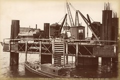 Tay Bridge (Dundee City Archives) Tags: old pier construction photos rivertay dundee victorian railway tay disaster era 28 newbridge rebuild pontoon taybridge tayrailbridge victorianengineering tayviaduct replacementbridge