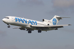 Pan Am Clipper Connection Boeing 727-222/ADV N349PA (Flightline Aviation Media) Tags: airplane airport aircraft aviation jet greenbay boeing panam stockphoto 727 grb 727200 austinstraubel panamclipperconnection kgrb 727222adv n349pa bruceleibowitz