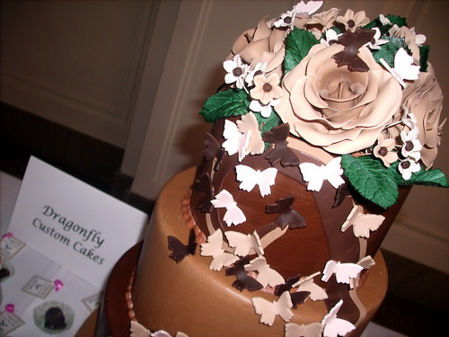 Chocolate Roses and Butterflies Cake