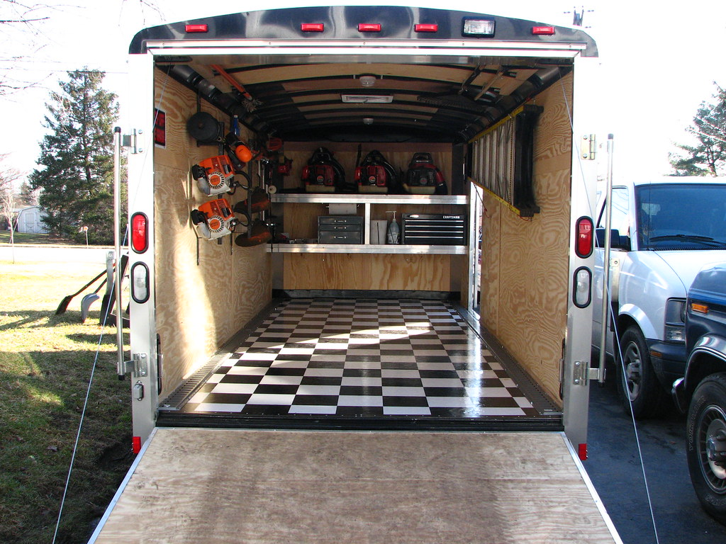 [ IMG] - Pictures Of The New Enclosed Trailer Interior LawnSite