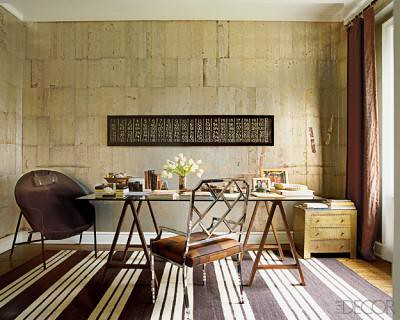 Nate Berkus's office, featured in Elle Decor
