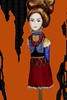 Royalty (emeraldsrain) Tags: art girl fashion watercolor design sketch mixed artwork san media artist diego stick sketches royalty amputee emeraldsrain