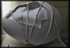 Perpignan (dubus regis) Tags: sculpture white egg rope wife perpignan