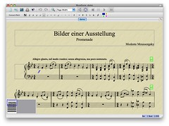 MuseScore 0.9.4 running on Mac