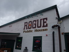 The Rogue Public House has a beautiful spot on the Columbia River.
