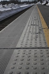 Guiding lines, vanishing point (andedam) Tags: station norway vanishingpoint railway surface textures akershus universaldesign strømmen guidinglines pfogold pfosilver silveronly