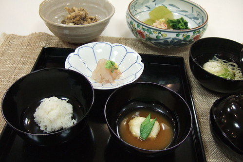 Choyo no kaiseki (September Kaiseki) : cooking lesson