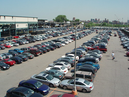 Photo of a parking lot