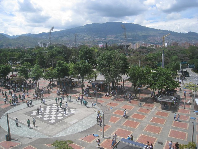 View toward Estadio from the metro station