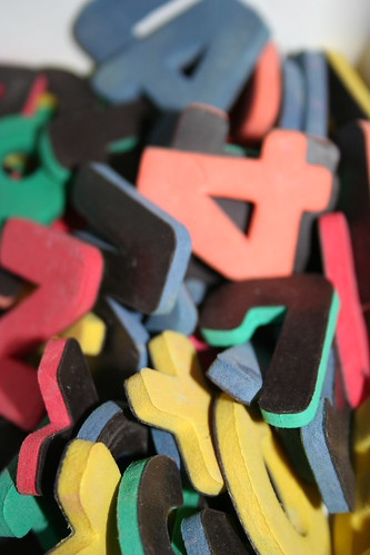 letter magnets. Coloured letter magnets. IMG_1450