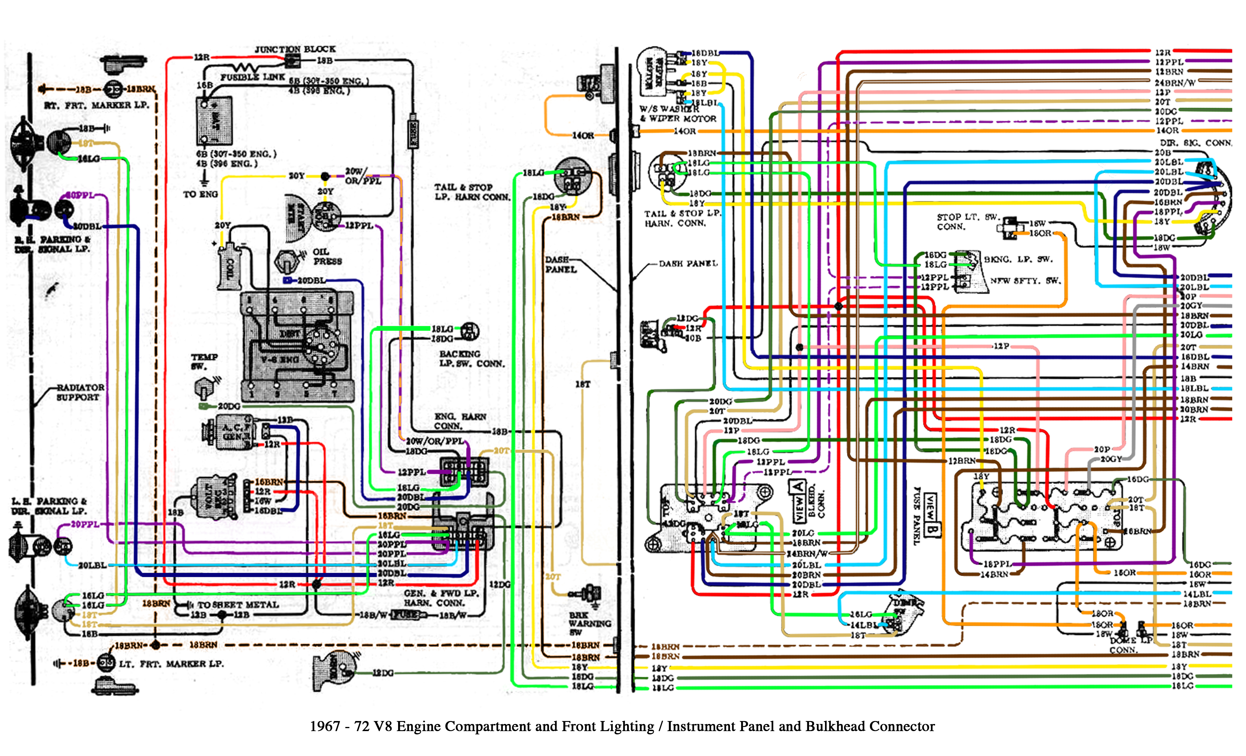 Color Wiring Diagram Finished The 1947 Present Chevrolet & Gmc 1992 Chevy  Blazer Wiring Diagram 1970 Chevy Blazer Wiring Diagram