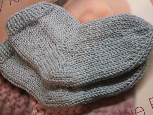 Six needle baby socks