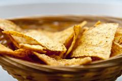 Tortilla Chips (lYlandark) Tags: basket chips wicker tortilla nachos