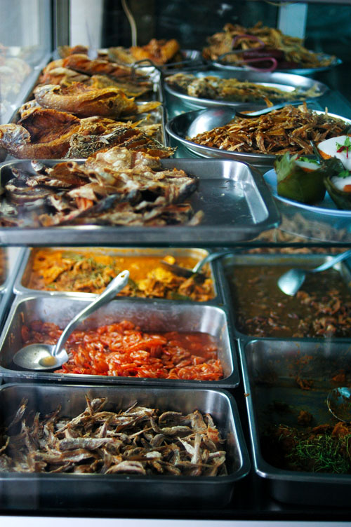 Dishes at Dao Tai, a southern Thai restaurant in Thonburi, near Bangkok