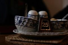 Tea Room (hello.vickibrown) Tags: china blue pepper pattern tea room peakdistrict salt sugar 25 bowls bakewell