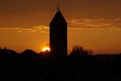 Sonnenuntergang in Aidlingen