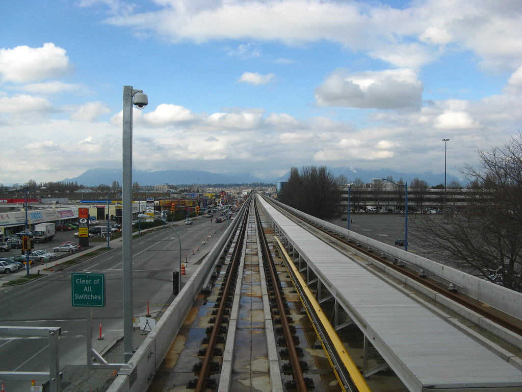 Looking north from Lansdowne, Outbound side