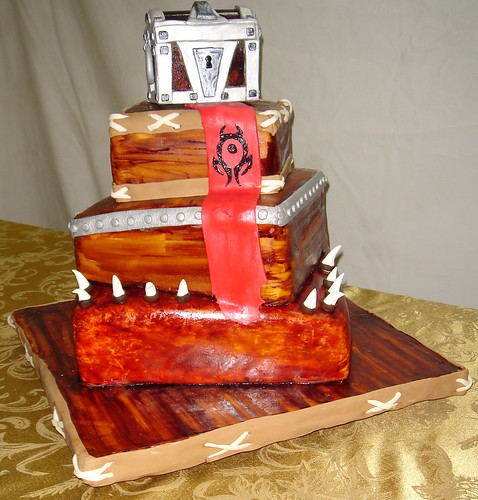 world of warcraft art horde. world of warcraft wedding cake
